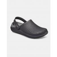 Crocs LiteRide Clog - כפכף בטכנולוגיית לייט-רייד בצבע שחור/אפורארגונית נעליים