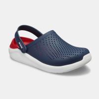 Crocs LiteRide Clog - כפכף בטכנולוגיית לייט-רייד בצבע נייבי/אדוםארגונית נעליים