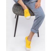 BenSimon Lace Tennis - נעלי סניקרס לנשים בן סימון בצבע צהוב לימוןארגונית נעליים