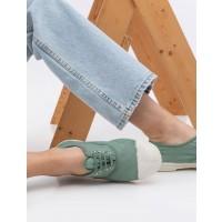 נעלי סניקרס לנשים בן סימון בצבע ירוק - BenSimon Lace Tennisארגונית נעליים