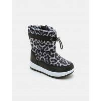 מגפי גשם לילדות קדס בהדפס מנומר בצבע שחור/לבן - Kedsארגונית נעליים