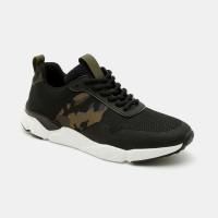 נעלי סניקרס אופנתיות גברים בהדפס צבאי בצבע שחור/חום/לבן - Seventy Nineארגונית נעליים
