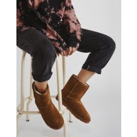 Seventy Nine - מגפי פרווה זמש איכותיים בצבע קאמלארגונית נעליים